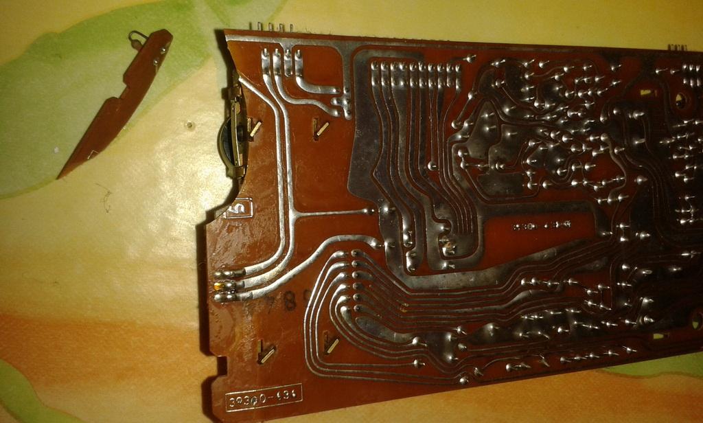 Gtrundig TS1000 interni scheda sliders centrali
