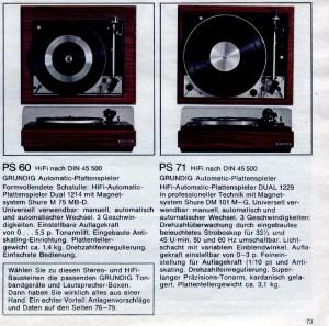 GRUNDIG PS 60 PS 71